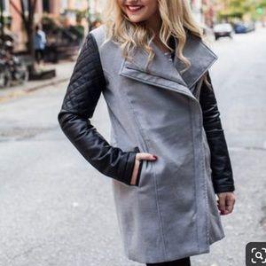 Grey Mixed Media Coat